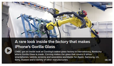 How Gorilla Glass is made video
