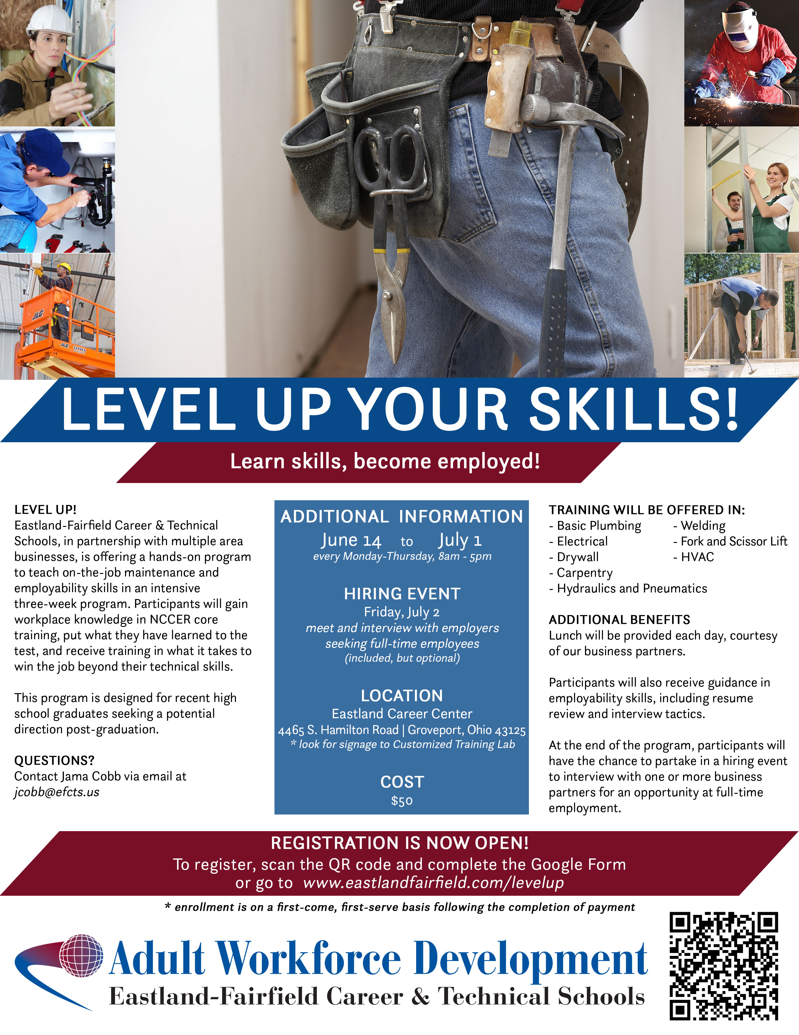 Level Up Your Skills Flyer