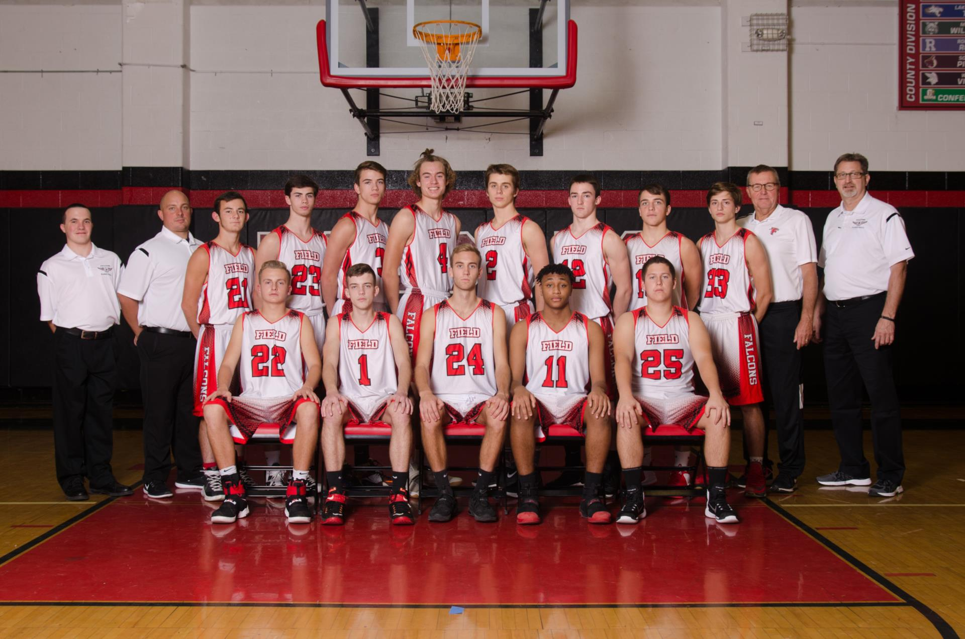 2017-2018 FHS Boys Basketball Team Phot
