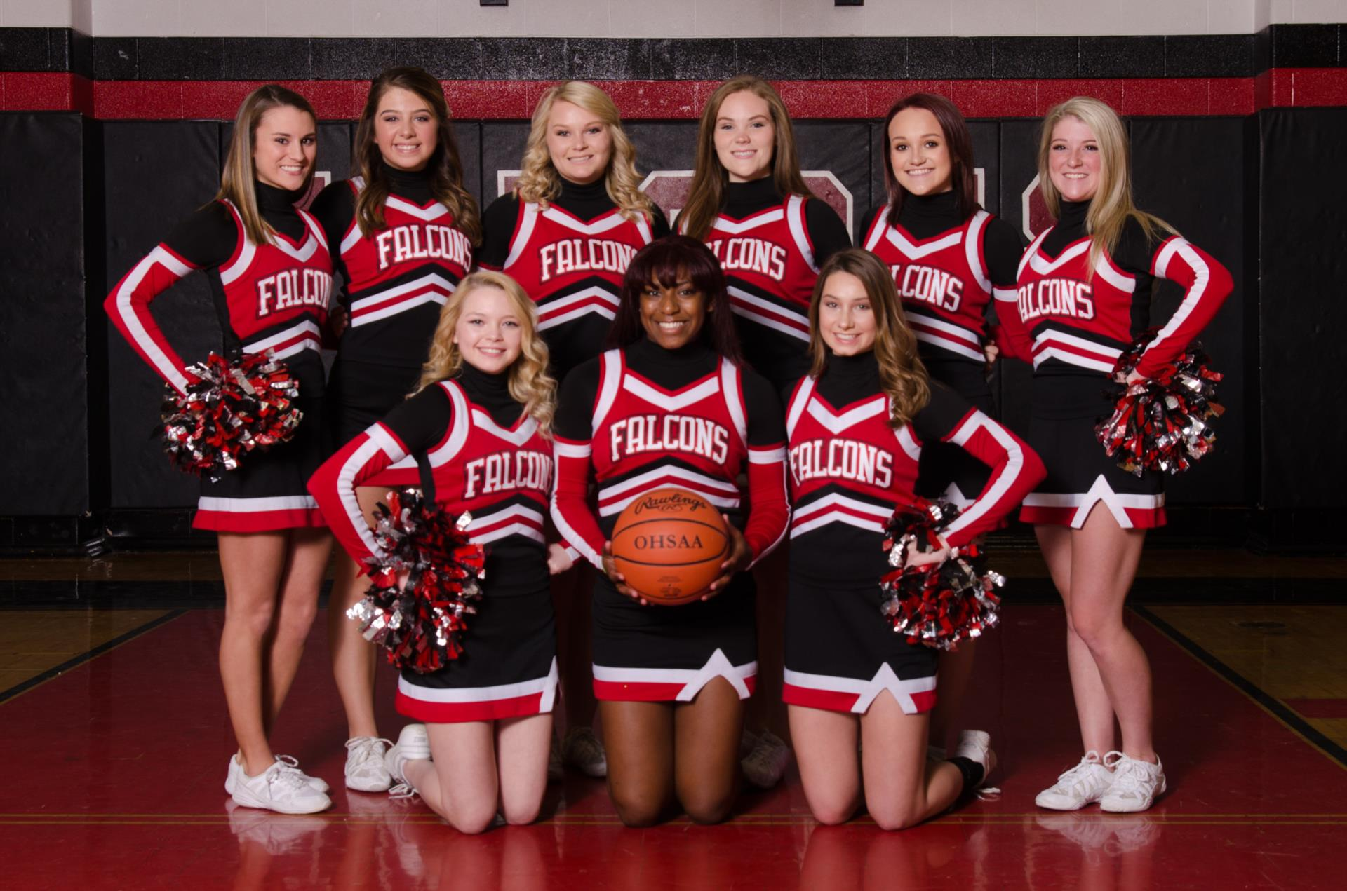 2017-2018 Varsity Basketball Cheerleaders Photo