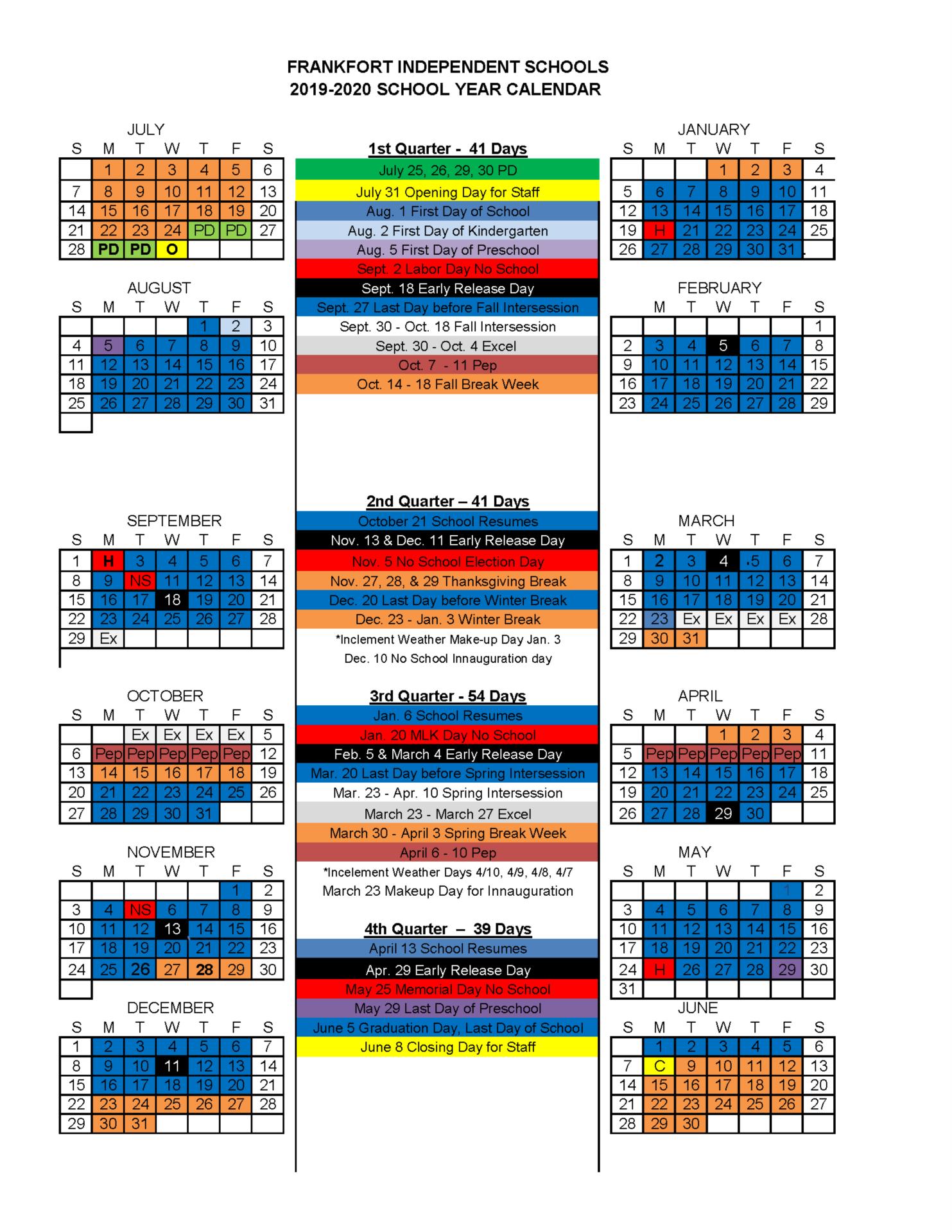 Image of 2019-20 Calendar