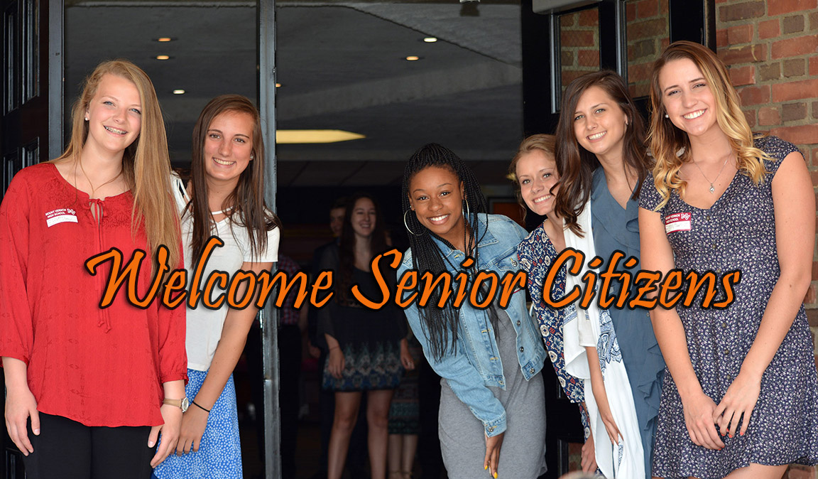 MVHS Students welcoming senior citizens.