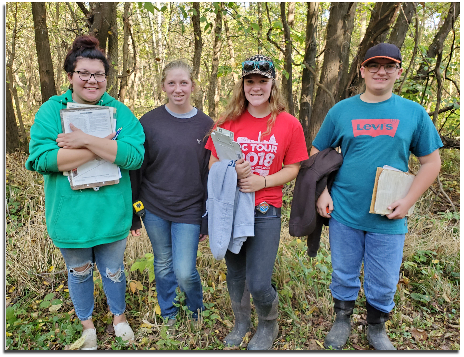 Rural Soils Team members standing with clipboards.