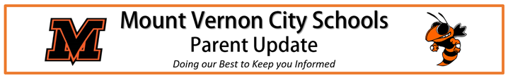 Parent Update Logo with Mount Vernon MV and Bee.
