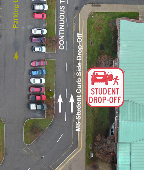 Middle School Drop-Off Area
