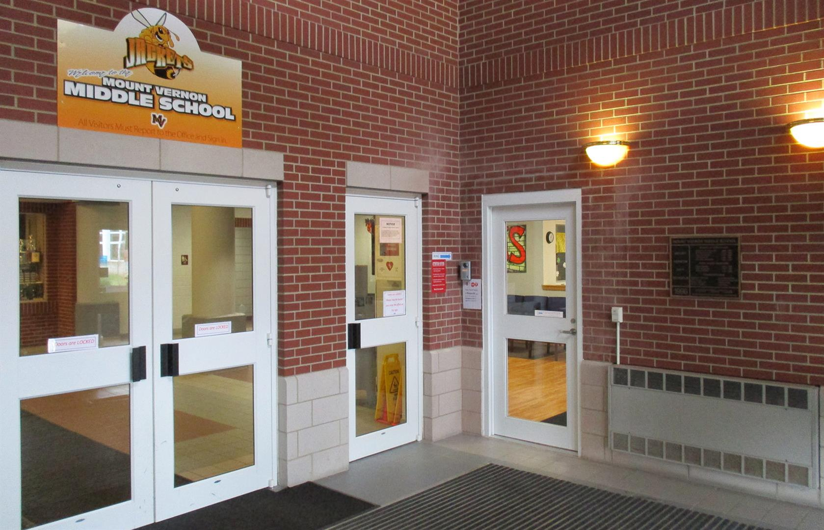 New Secured Middle School Entrance
