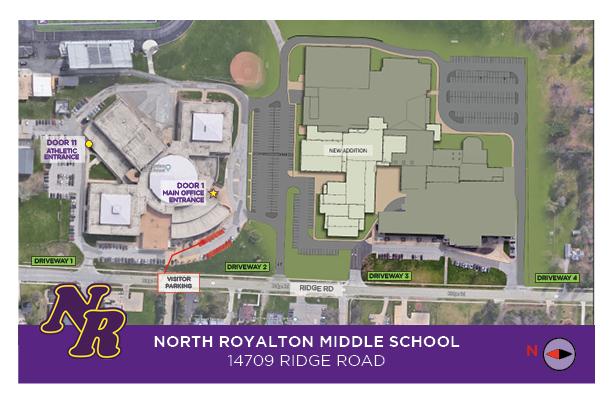 North Royalton Middle School traffic pattern