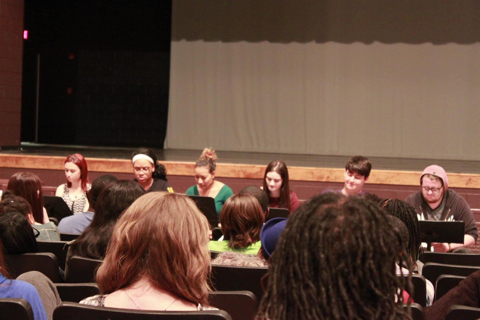Photo Of Students Attending A Play Writing Workshop - Eastland-Fairfield Career & Technical Schools