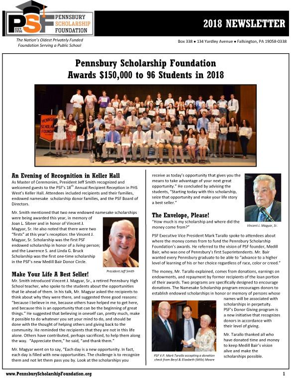 2018 PSF Newsletter