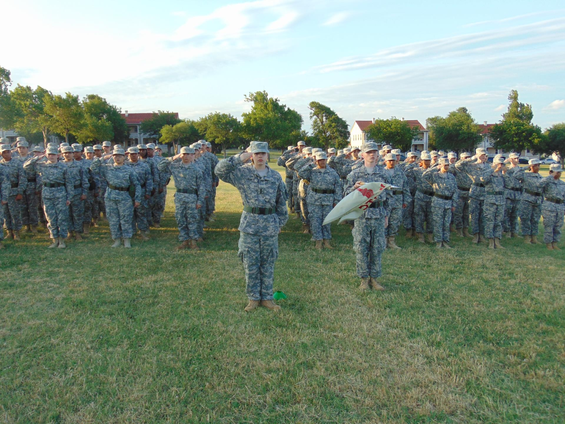 Emma Dilbeck leads platoon