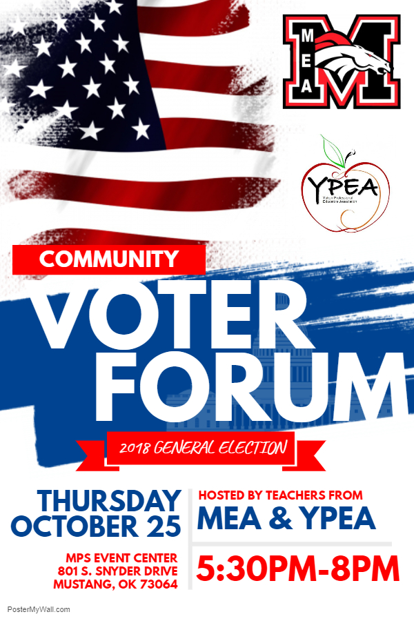 Voter Forum advertisement
