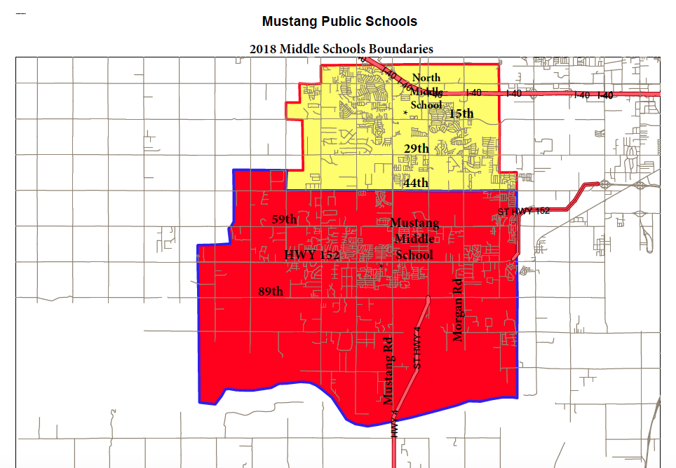 2018-2019 Middle school boundaries