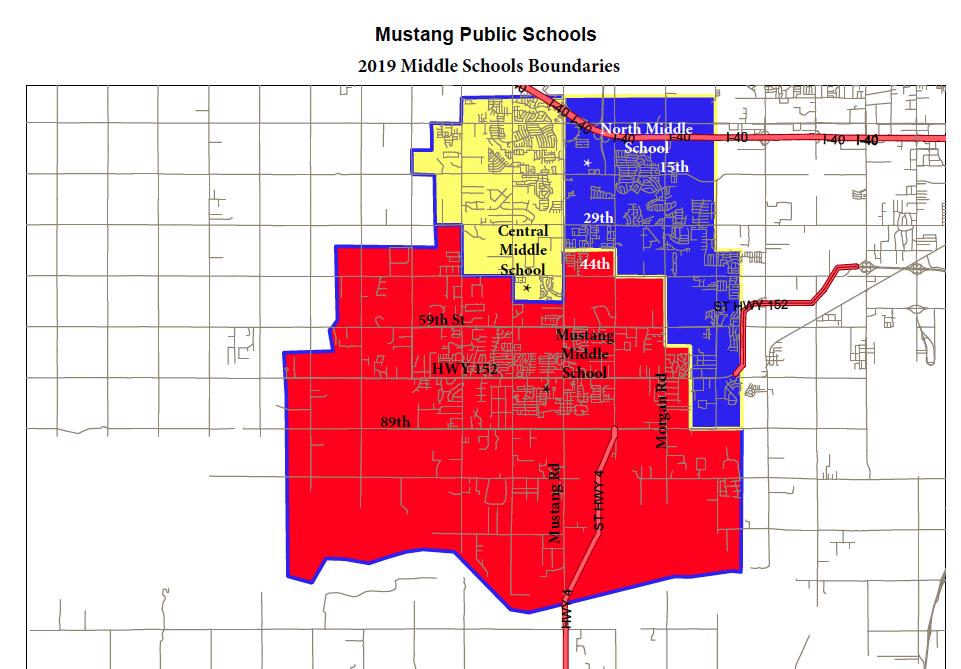 2019-2020 Middle School Boundaries