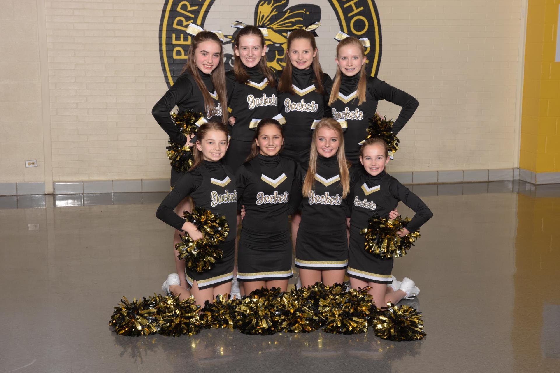 2017 7th grade basketball cheerleaders