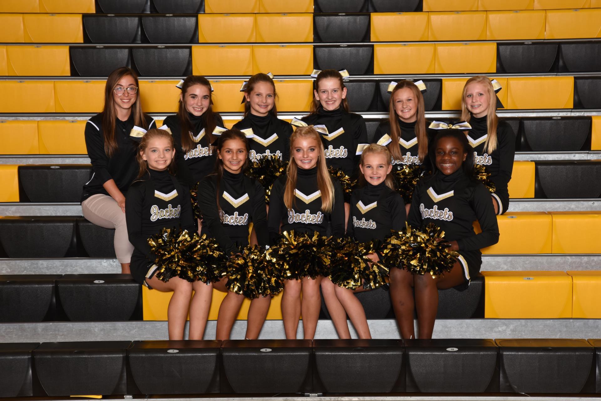 2017 7th grade football cheerleaders
