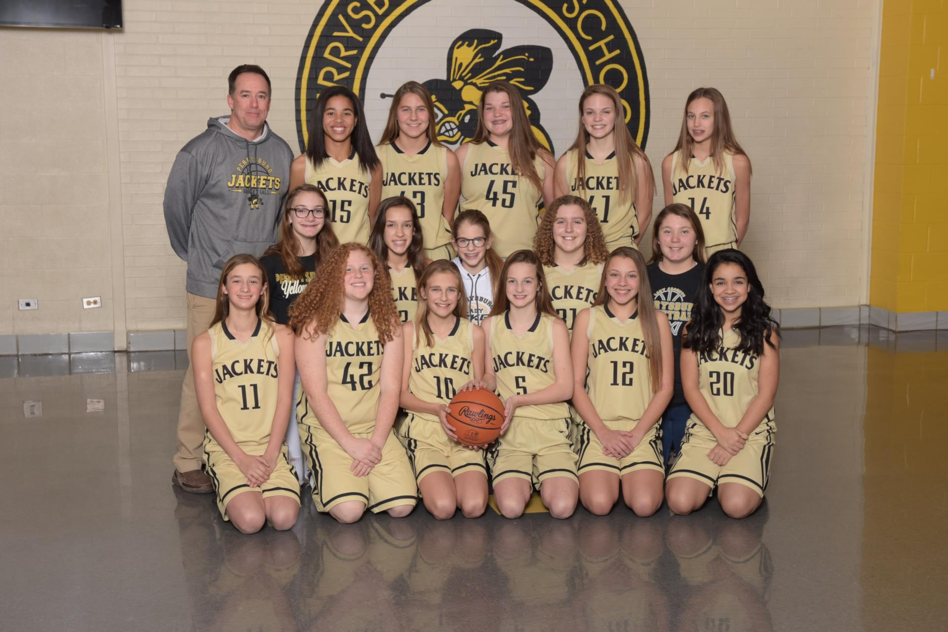 2017 7th grade girls basketball team