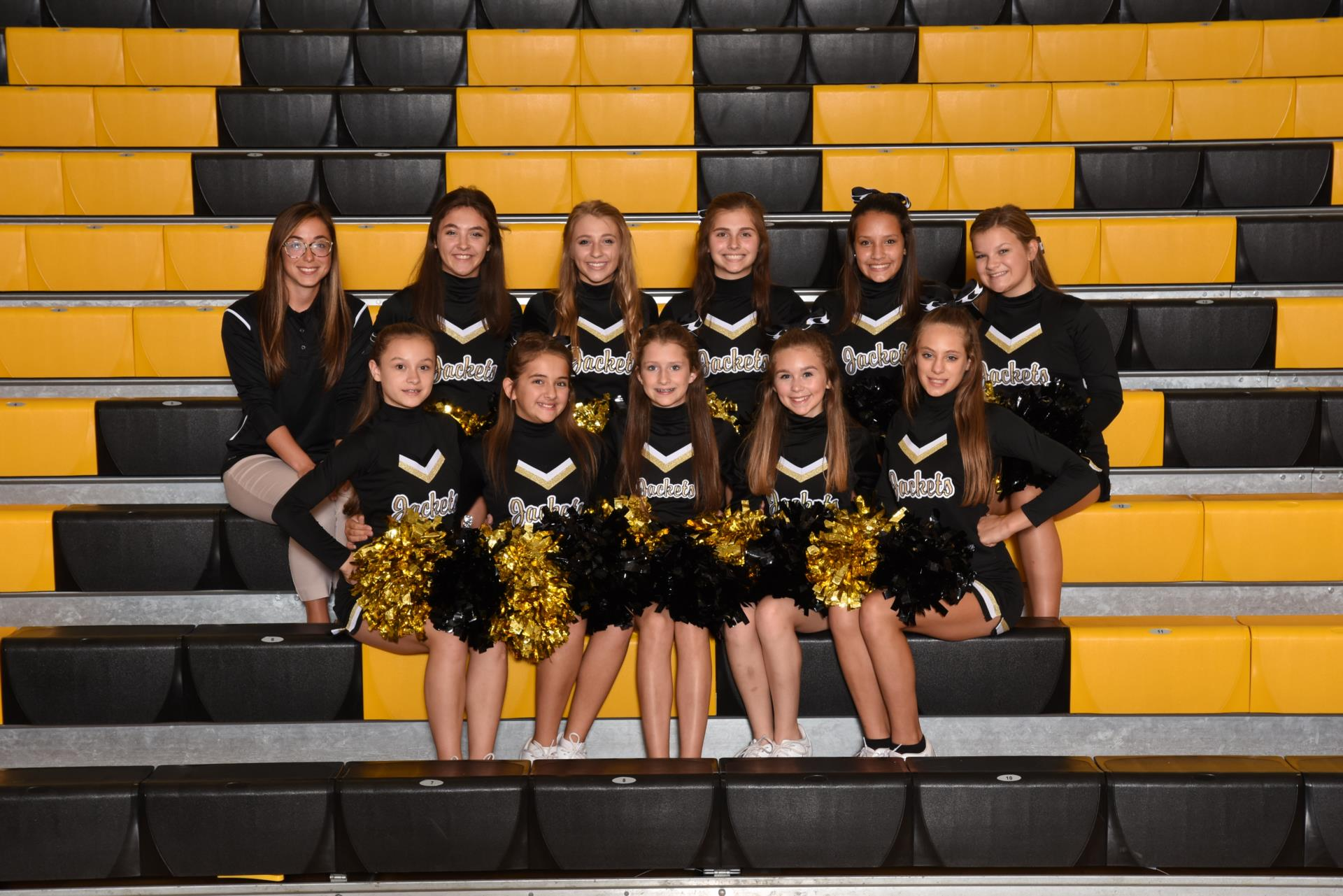 2017 8th grade football cheerleaders