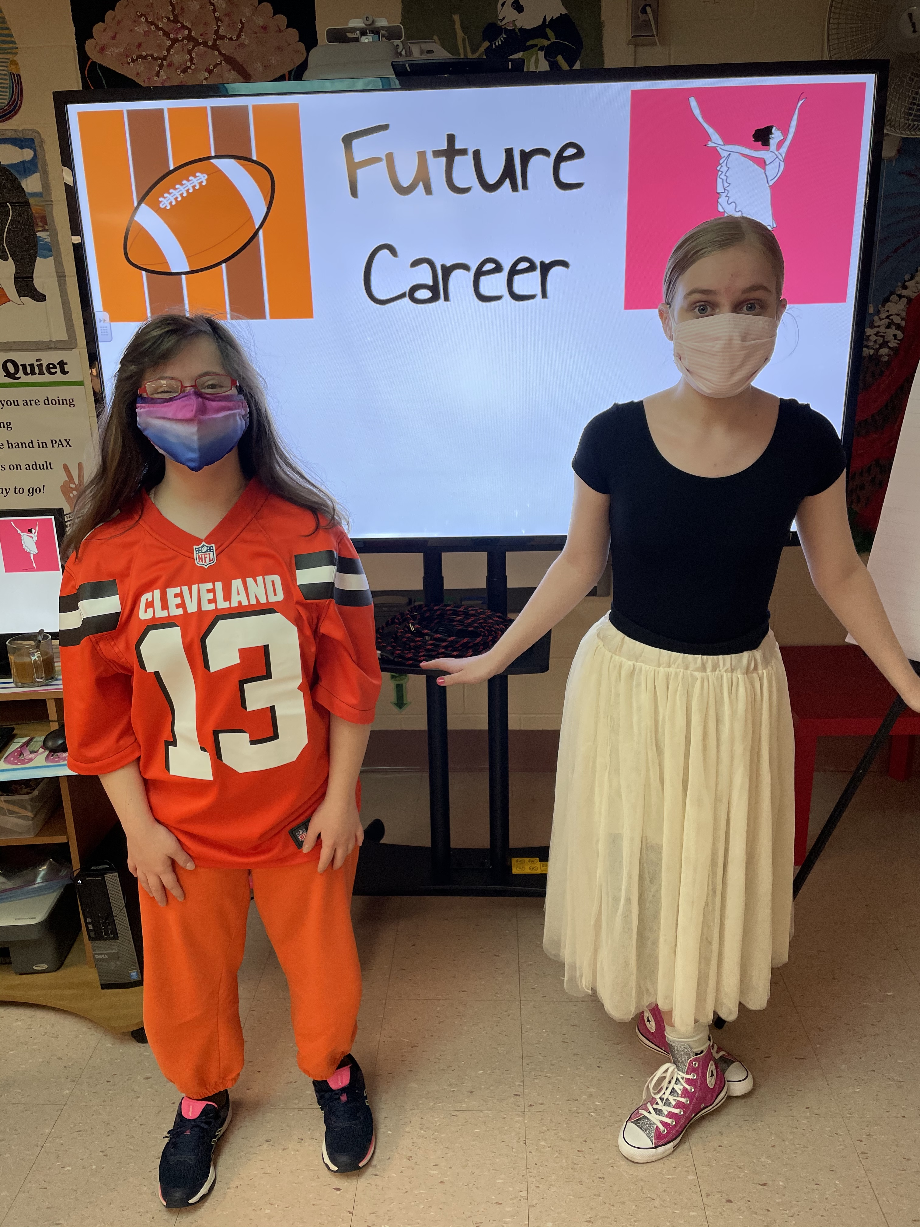 Mrs. Kustron's ACHIEVE students wrapped up spirit week at WGMS by dressing as their future careers!
