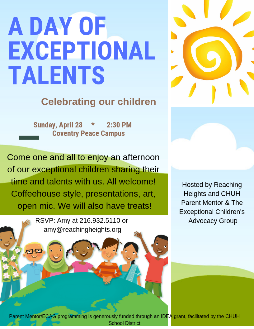 Exceptional Talents flyer