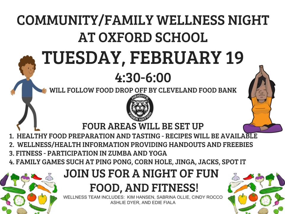 Oxford community wellness flyer