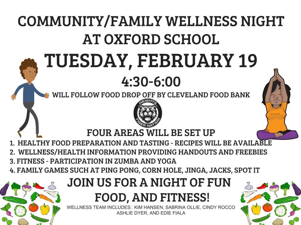 Oxford community wellness flyer