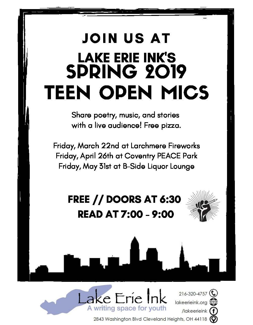 open mic nights flyer
