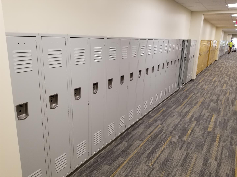 Lockers in Heights High School
