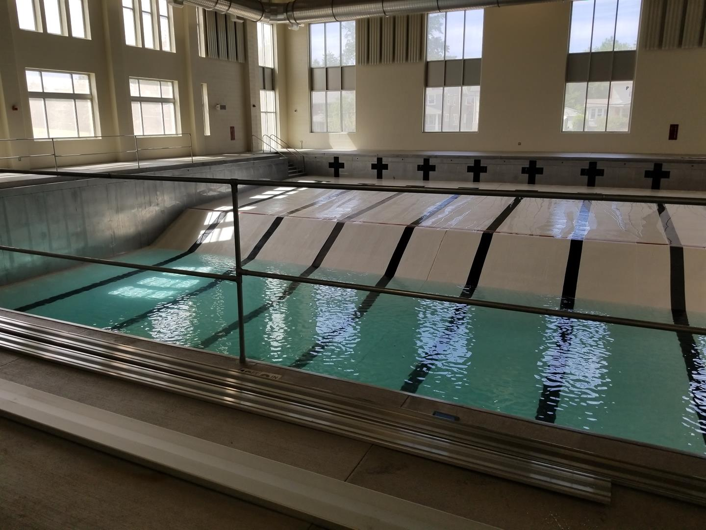 Indoor pool at Heights High