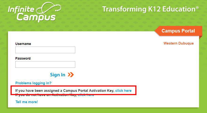 Portal Key Link