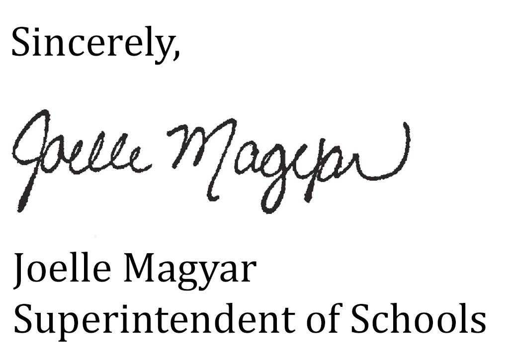 Joelle Superintendent's Signature
