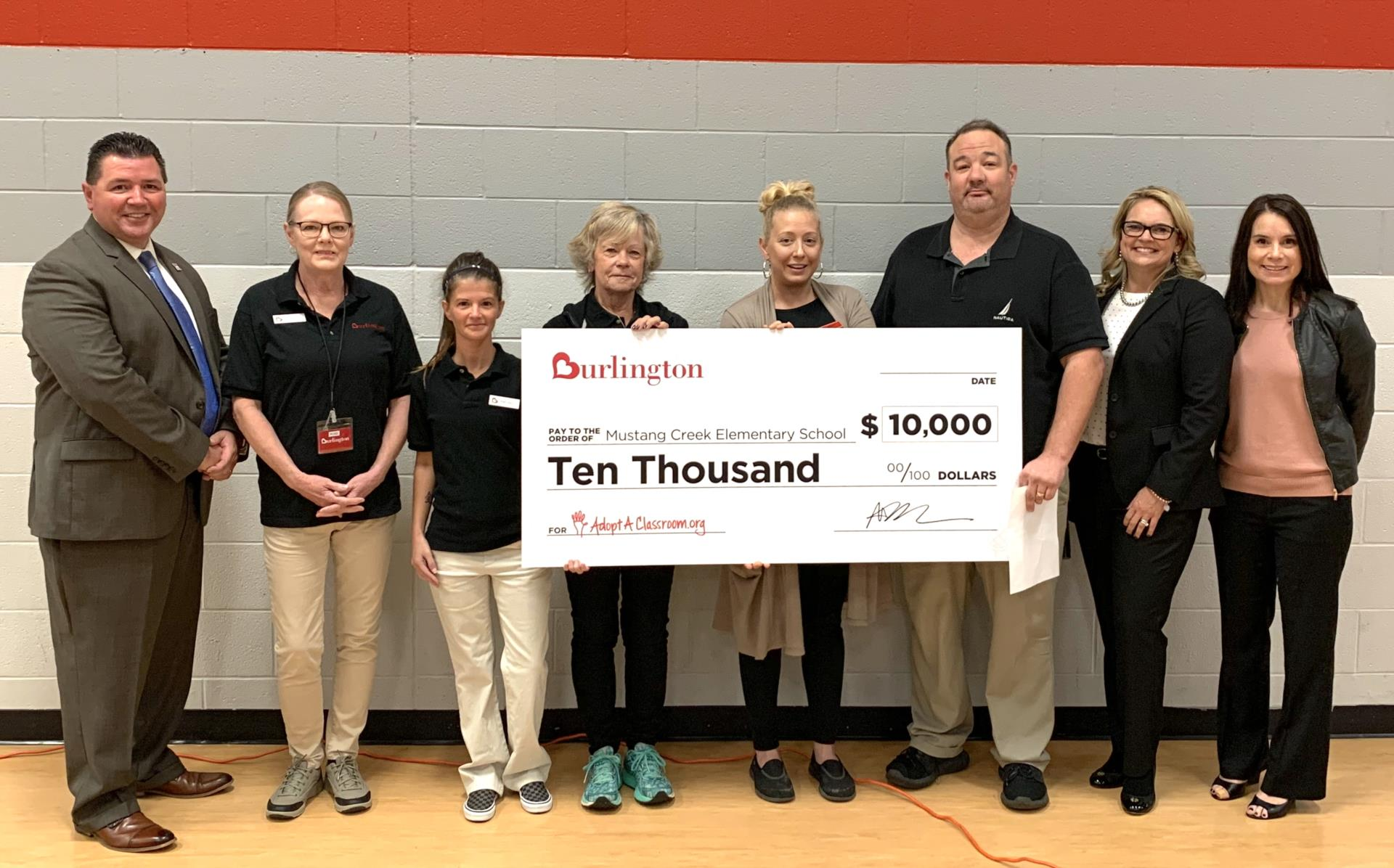 Burlington Presents Check To Creek Staff