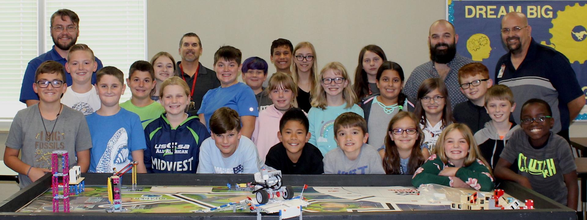 Boeing Mentor with CRI FLL Team
