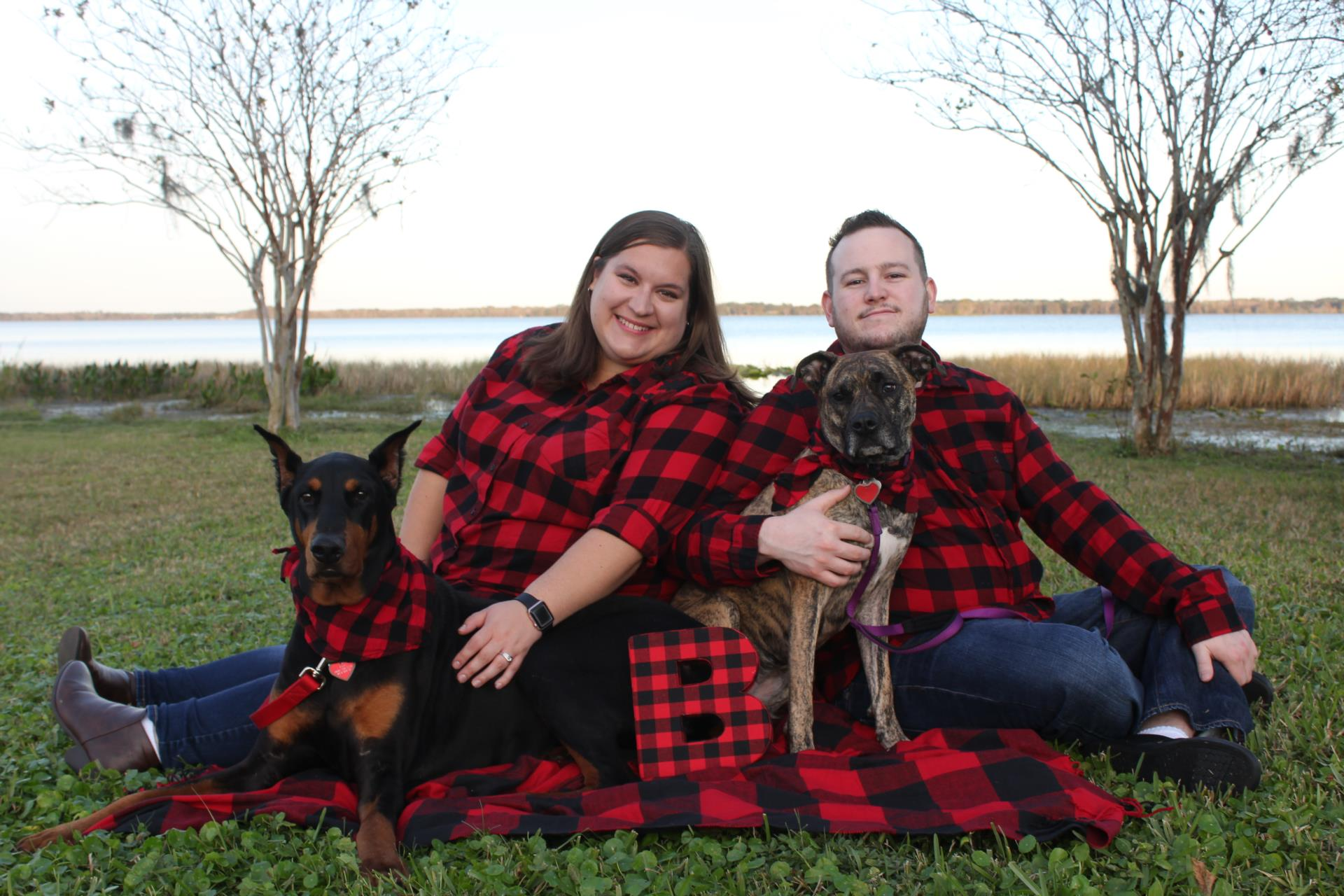 Mr. and Mrs. Bilsky with two dogs