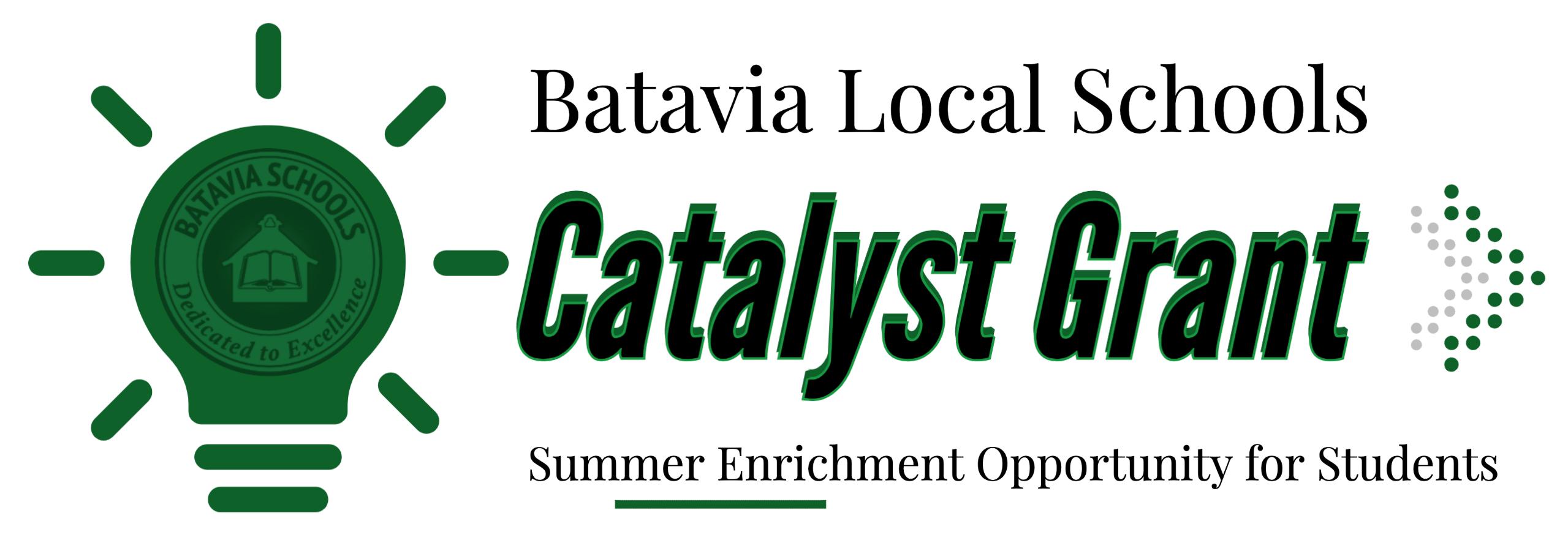 batavia schools catayst grant graphic