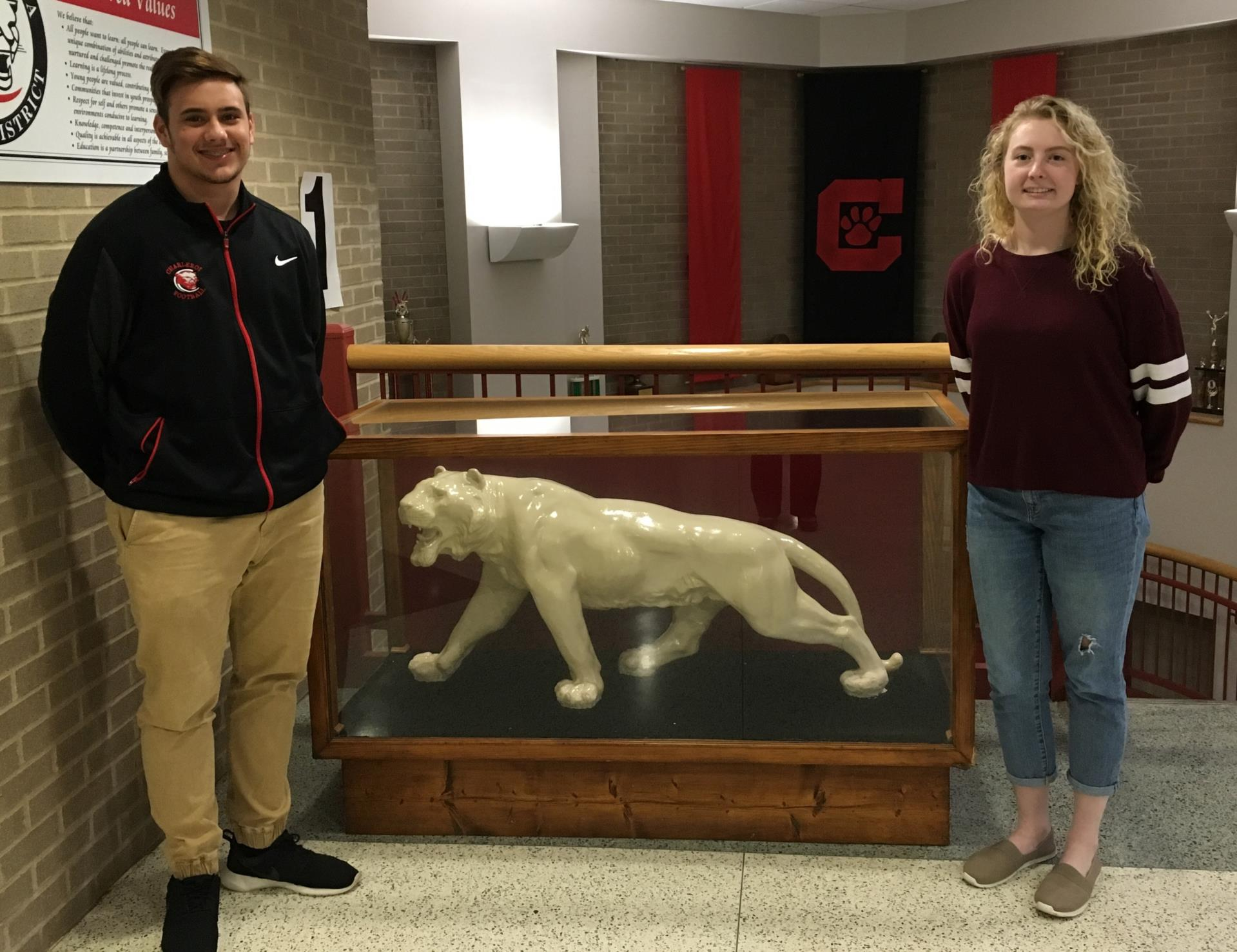 The Charleroi High School selections for the Centennial Chevrolet Scholar-Athletes award are Jake Stefanick and Sierra Short.