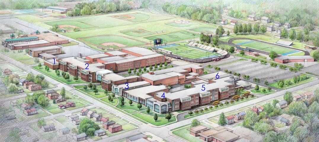 secondary campus rendering