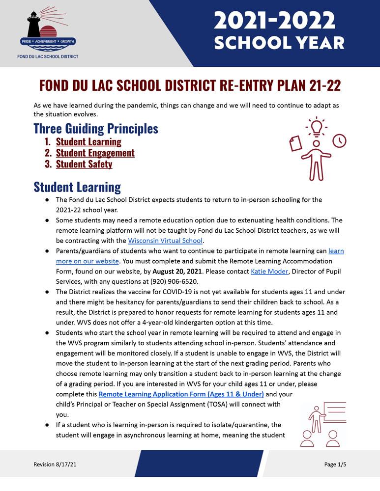 Re-Entry Plan 21-22