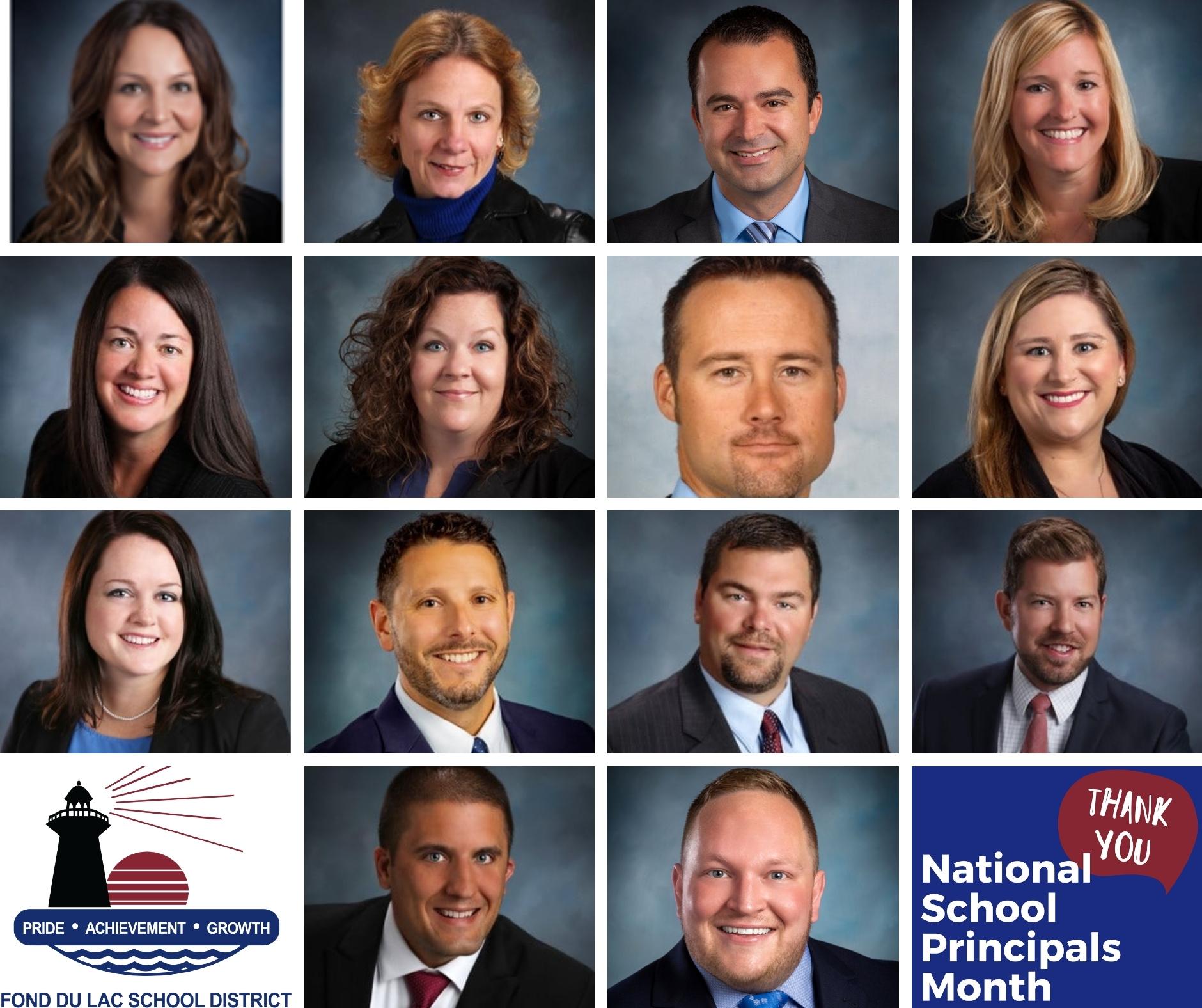 Collage of Principals' portraits