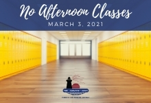 No Afternoon Classes March 3, 2021