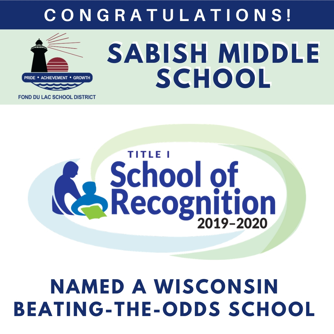 Congratulations Sabish Middle School on Being Named a 2019-20 Title 1 School fo Recognition