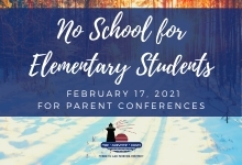 No school Feb. 17, 2021 for elementary students