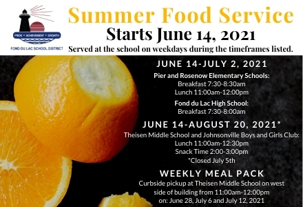 Summer Food Service graphic