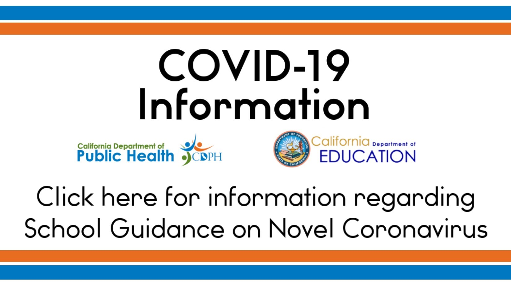 COVID 19 health department information