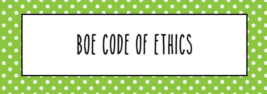 BOE Code of Ethics