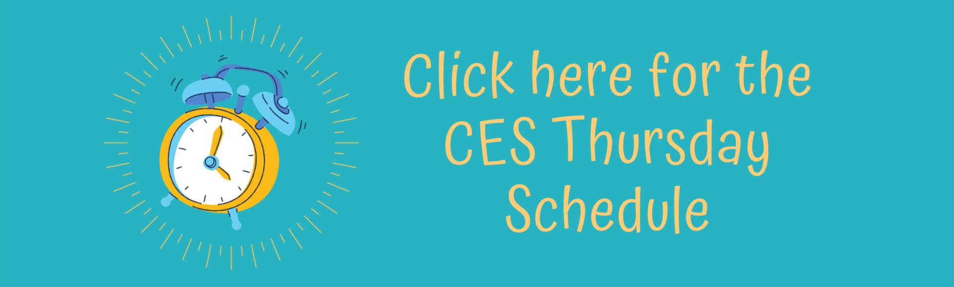 CES Thursday Schedule