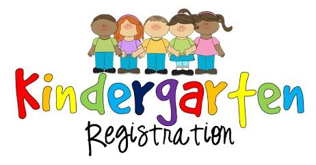 chilldren with colorful Kindergarten Registration form