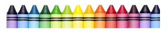 Different color crayons