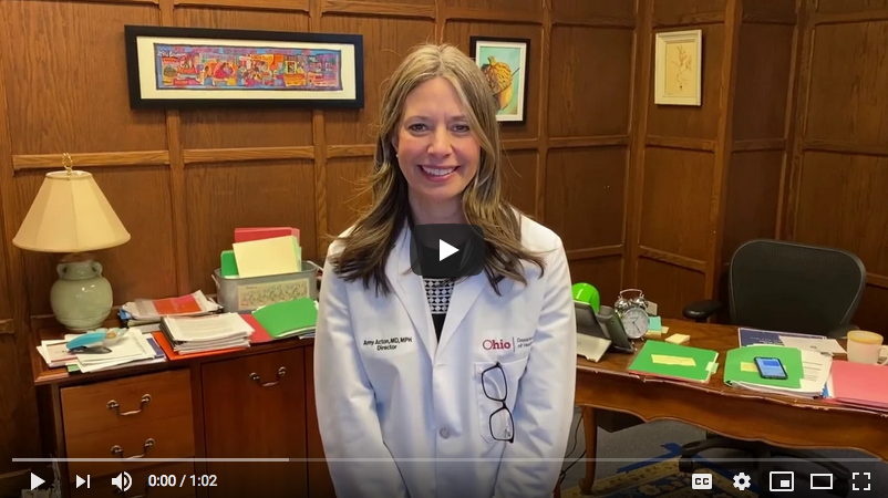 Dr. Amy Acton video on washing hands