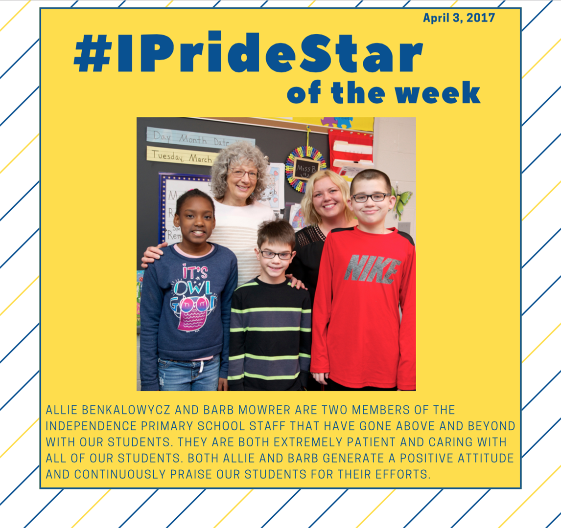 Allie Benkalowsycz and Barb Mowrer IPRIDE Star of the Week april 3, 2017
