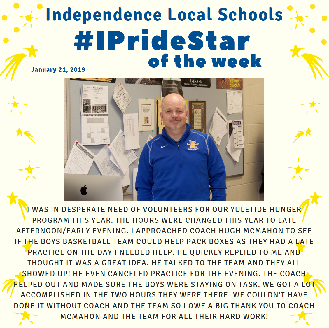 Hugh McMahon, IPride Star of the Week
